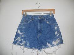 Vintage Distressed LEE denim cut off jean by ATELIERVINTAGESHOP, $25.00