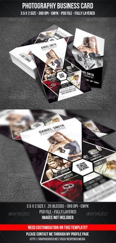 Fashion Photography Business Card PSD Template Photography - 35 x2 business card template
