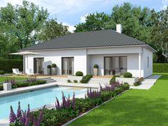 Fertighaus modern walmdach  Solution 100 V3 von Living Haus by Bien-Zenker| Bungalow| Walmdach ...
