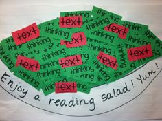 comprehension connections reading salad
