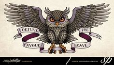 """This is an owl back tattoo I designed for Tracey Hart. Tracey asked for the owl to """"Look feminine, but not dainty or cutesy, because it. Owl Tattoo Chest, Chest Piece Tattoos, Diy Tattoo, Tatuajes New School, Traditional Owl Tattoos, Be Brave Tattoo, Owl Wings, Owl Tattoo Design, Bird Tattoos"""