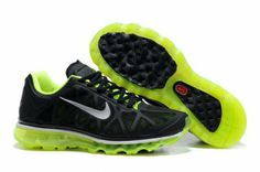 best authentic 7ad0b 36273 Womens Nike Air Max 2011 Black Summit White Neon Lime Sneakers Nike Free  Run 3 -