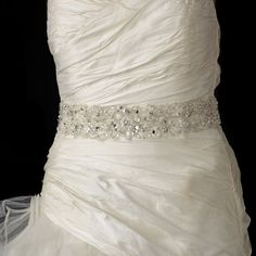 Elaborate Pearl and Rhinestone Beaded Wedding Belt Sash - just gorgeous!