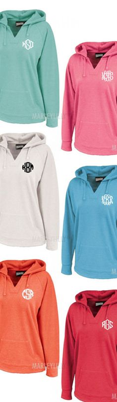 Monogrammed Hooded Sweatshirt Tunic from Marleylilly.com