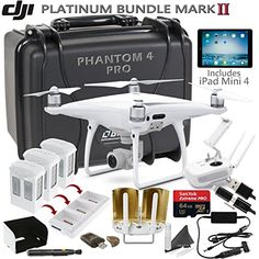 DJI Phantom 4 Pro w/ Platinum II Bundle: Includes iPad Mini 4, 3 DJI Phantom 4 Batteries, Go Professional Carrying Case w/ Wheels, SanDisk 64GB Extreme Pro MicroSD Card and more... ** To view further for this item, visit the image link.