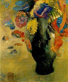 monseuldesir:    Flowers by Odilon Redon, 1903, oil on canvas, 66 x 54,5 cm, Kunstmuseum, St Gallen  …SEE?!…