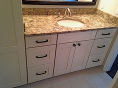 Designed by our friends in Michigan at Linden Kitchen and Bath, this bathroom vanity features Showplace paint. Thanks for making Showplace look great and work hard!  Learn more about Linden Kitchen and Bath: http://www.lindenkitchenandbath.com/ Learn more about Showplace Wood Products: http://www.showplacewood.com/