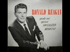 REAGAN ON SOCIALIZED MEDICINE: Just listen to the first 15 seconds. If you like it, listen to the next 60-90 secs. Ronald Reagan was the Greatest President of our generation & he warned us over 50 years ago what was coming our way. Now, just as he cautioned, we are again on the verge of socialized medicine at a time when Social Security & our economy are in peril of collapse. If you make it to 6-7 minute mark, it hits very close to the truths behind Obamacare. You can't say we weren't warned...