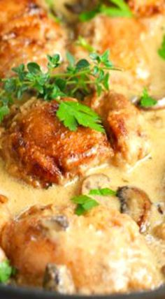 Creamy Chicken and Mushroom Skillet Recipe