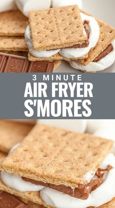 This easy recipe for a air fryer s'mores shows you exactly how to make a perfect s'more in your air fryer in 3 minutes or less using chocolate, graham cracker and puffy marshmallows. Great for a rainy day to make s'mores indoors with easy clean up! Healthy Dessert Recipes, Healthy Sweets, Fun Desserts, Real Food Recipes, White Chocolate Cookies, Chocolate Treats, Chocolate Graham Crackers, Cold Appetizers, Serious Eats