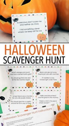 Kids love this Halloween scavenger hunt with printable clues for not too spooky fun! Teen Halloween Party, Outdoor Halloween Parties, Halloween Party Activities, Halloween Scavenger Hunt, Scavenger Hunt For Kids, Halloween Activities For Kids, Activities For Teens, Kids Party Games, Halloween Birthday