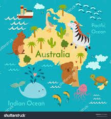 Blank World Map Of Australian Continent Outline Australia - Australian world map