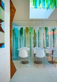 Doug Meyer interior - Stripe Cafe, Los Angeles