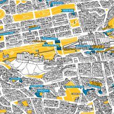Edinburgh Art Festival map illustrated by David Galletly