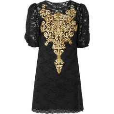 Dolce & Gabbana Embroidered lace dress ($2,069) ❤ liked on Polyvore featuring dresses, vestidos, short dresses, sukienki, black, mini dress, black cocktail dresses, short cocktail dresses and black dress