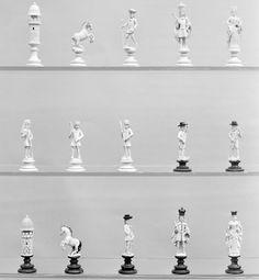 Chessmen (29) | Austrian | The Met (ca. 1820, ivory, horn)