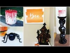 DIY Halloween Decorations (includes jump scare) – How To Make Ghosts, Pumpkins, Spiders, Webs etc. - YouTube