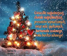 Radosnych Świąt Bożego Narodzenia Christmas Wishes, Christmas Greetings, Merry Christmas, Live Wallpapers, Wallpaper Backgrounds, Christmas Live Wallpaper, Polish Language, Weekend Humor, Christmas Decorations