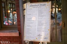 Cafe Brauer wedding venue, Lincoln Park, Chicago, guest seating chart