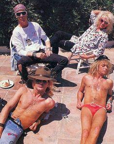 Poison poolside, 1987. Bret Michaels Poison, Bret Michaels Band, Big Hair Bands, Hair Metal Bands, Poison Albums, Hard Rock, Poison Rock Band, Music Memes Funny, Vince Neil