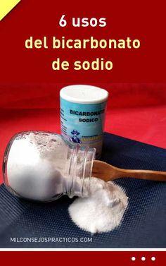 6 usos del bicarbonato de sodio Baking Soda, Soap, Personal Care, Tips, Lifestyle, Oral Health, Dental Floss, Teeth, Medicine