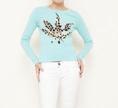 Lucien Pellat-Finet Teal, Brown And Tan Sweater