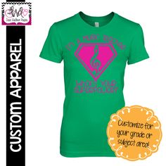 "CUSTOM APPAREL Custom LADIES ""I'm a Music Teacher, What's Your Superpower?"" T-Shirt"