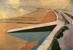 The Shore, by Paul Nash, 1923 (via the BBC's 'Your Paintings', in partnership with the Public Catalogue Foundation)
