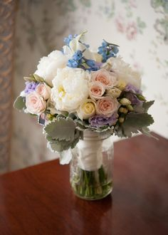 Image result for yellow rose pink peony dusty miller blue hydrangea