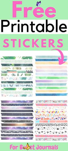 Free Printable Stickers For Your Bullet Journal  <br> Free printable stickers for your bullet journal. Click here to download these free printable stickers. Free sticker printables.