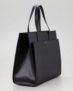 Lanvin Black Extra Large Leather Shopper Bag (5.060 BRL) ❤ liked ...
