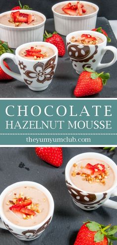 Nutritious Snack Tips For Equally Young Ones And Adults Greek Yogurt Chocolate Hazelnut Mousse Is A Delicious And Healthy Alternative To Ice Cream. Finish That Dinner Part Without A Guilty Conscience Yum Keto Friendly Desserts, Low Carb Desserts, Easy Desserts, Delicious Desserts, Dessert Recipes, Baking Recipes, Cake Recipes, Dinner Recipes, Yogurt Recipes