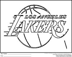Lakers Logo Coloring Page Coloring Home ...