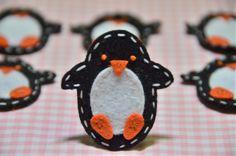 Set of 6pcs handmade felt penguin--black (FT847). $5.39, via Etsy.