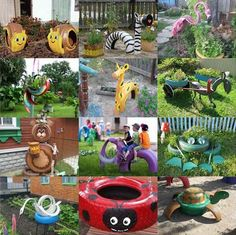 40+ Ways to Repurpose Tires Into Fun Animals For The Garden...http://homestead-and-survival.com/40-ways-to-repurpose-tires-into-fun-animals-for-the-garden/