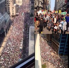 People in chicago..free palestine,pray for gaza 2014