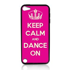 Keep Calm and Dance on Tpu Rubber Plus Hard Case Cover Skin for Ipod Touch 5g 5 5th Generation - Free Plastic Retail Packaging Box:Amazon:Everything Else