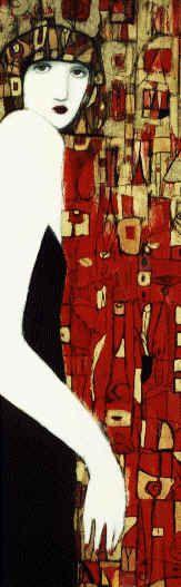 """Woman in Crimson Mosaic"" by Cynthia Markert"