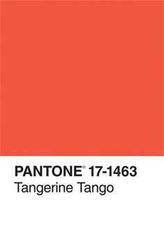 PANTONE® Tangerine Tango 2012 Color of the Year  #PinPantone