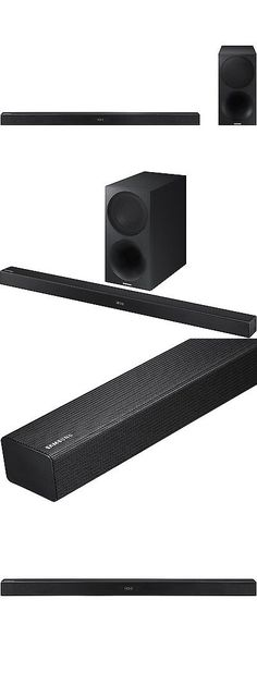 Home Speakers and Subwoofers: Samsung Hwm450 Black 2.1 Channel Sound Bar With Wireless Subwoofer - Hw-M450 Za -> BUY IT NOW ONLY: $197.99 on eBay!
