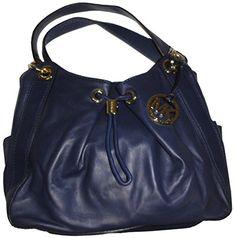 b700a9dbbbab Michael Kors Ludlow leather large Shoulder Bag, 35F3GLNL3L, NAVY >>>
