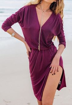 Cupshe Fired Up Plunging Dress