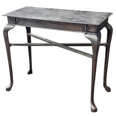 Burnished English Iron Table | From a unique collection of antique and modern console tables at http://www.1stdibs.com/furniture/tables/console-tables/ #English #design #interiordesign #furniture #table #consoles #burnished