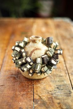 Mini Leather Journal Bracelet Statement Jewelry by wayfaringart, $200.00