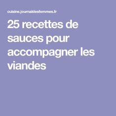25recettes de sauces pour accompagner les viandes