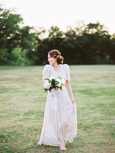 lovely rural wedding pic....The dress- I think I like it