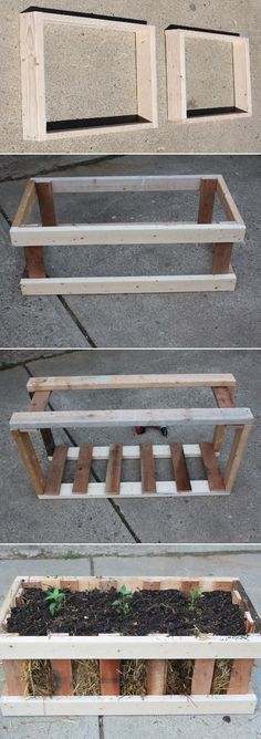 The Straw Bale Pallet Crate Garden Tutorial on The Farm – Old World Garden Farms at http://oldworldgardenfarms.com/2013/04/30/the-straw-bale-pallet-crate-garden-simple-attractive-and-cheap/
