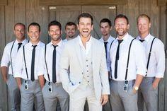 bridal party men no jackets - Google Search