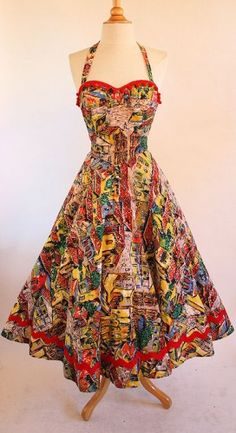 Vintage Party Dress by Cris Hollister Walking cartoon strip. Vintage Party Dresses, Vintage Gowns, 50s Dresses, Pretty Dresses, Beautiful Dresses, Vintage Outfits, Vintage Clothing, 1950s Fashion, Vintage Fashion