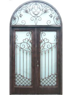 All of our doors are custom built to your exact dimensions. Please provide desired width and height for a free quote. Wooden Sofa Designs, Wrought Iron Doors, Iron Work, Blacksmithing, Metal Art, Entryway, Steel, House, Home Decor